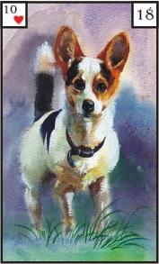 Lenormandkarte 18 der Hund