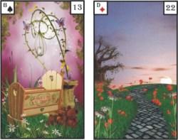 Lenormandkarten Kind und Wege