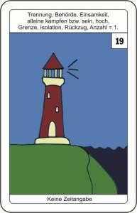 Lenormandkarte 19 der Turm
