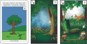 Lenormandkarte 5 der Baum